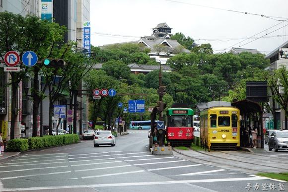 熊本市電と熊本城