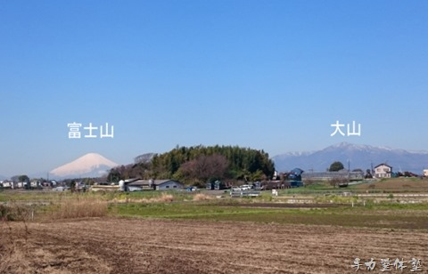 藤沢北部から見る富士山と大山